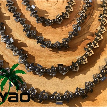 "Image of Chainsaw Chains AYAO Full Chisel Chains 12""x44DL,3/8LP Pitch, 0.050 Gauge Baumr-AG"