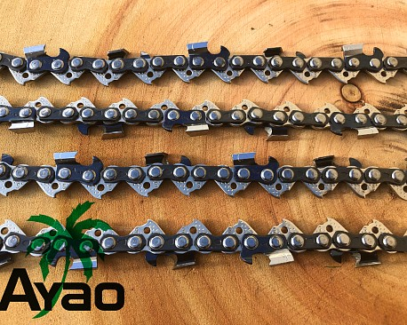 Picture of a AYAO Chainsaw Chain Full Chisel 3/8LP 043 33DL Replacement Saw Parts