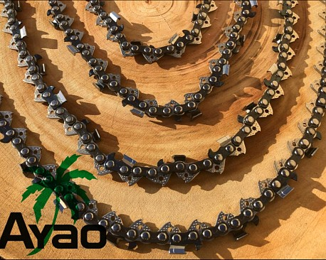 """Picture of a AYAO Chainsaw Full Chisel Chains 3/8LP 0.050""""Gauge 60DL Replacement Saw Parts"""